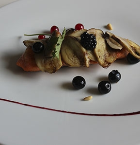 Photography recipe Warm Brown Trout Salad Procini & Wild Berries