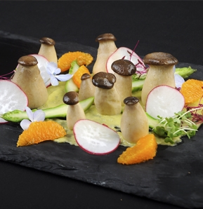 Photography recipe King Oyster Mushroom Salad
