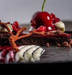 Photography recipe Black Forest Cherry Pie
