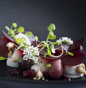 Photography recipe Goat cheese and Beetroot
