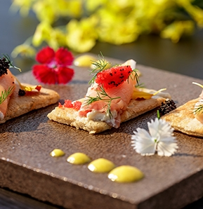 Photography recipe Bline, smoked salmon and vodka,s chantilly