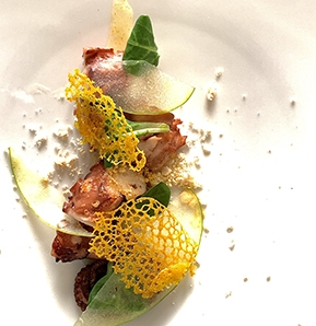 Photography recipe Octopus with Apple, Yuja and Bone Marrow
