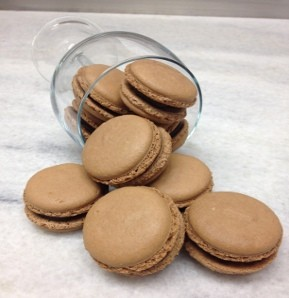 Photography recipe Chocolate Macarons with Ganache Filling