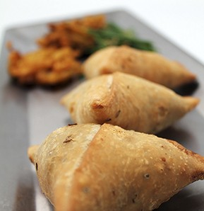 Photography recipe Meat samosa