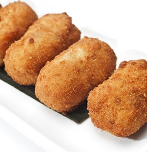 Photography recipe Chicken and egg croquettes